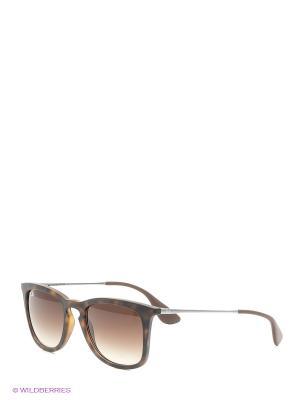 Очки солнцезащитные Ray Ban. Цвет: темно-коричневый