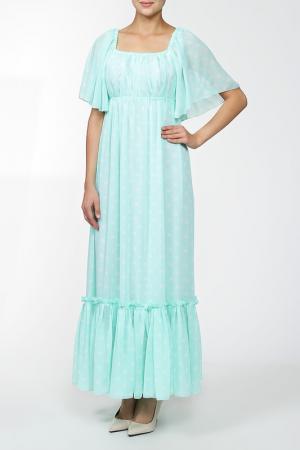 Платье MSW ATELIER. Цвет: зеленый