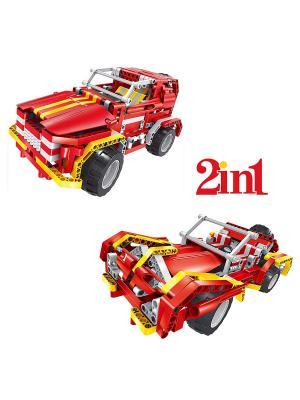 Конструктор электромеханический Raging Fire 472 эл. (пульт, аккумулятор, зарядка в комплекте) QIHUI. Цвет: красный, желтый, серый, светло-серый