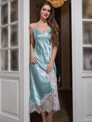 Сорочка MIA-AMORE. Цвет: светло-голубой