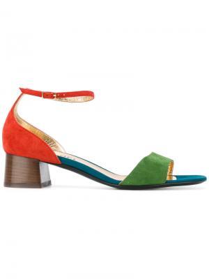 Босоножки с открытым носком Michel Vivien. Цвет: многоцветный