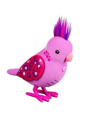 Интерактивная птичка Little Live Pets Розовая с драгоценными камушками на крыльях Moose. Цвет: розовый