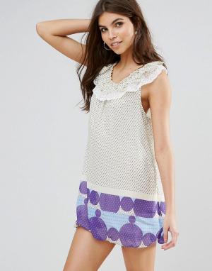 Jasmine Платье-туника с принтом. Цвет: кремовый