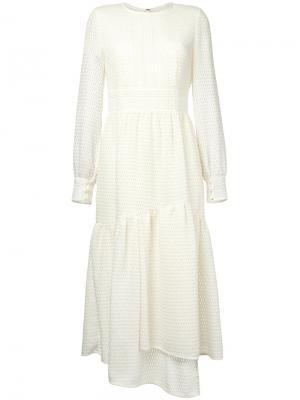 Платье с расклешенной юбкой Goen.J. Цвет: белый