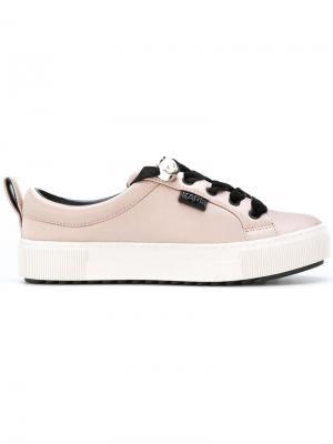 Кеды на шнуровке Karl Lagerfeld. Цвет: розовый и фиолетовый