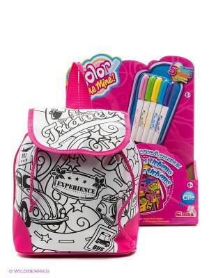 Рюкзак-раскраска Городской рюкзак Color me mine. Цвет: черный, белый
