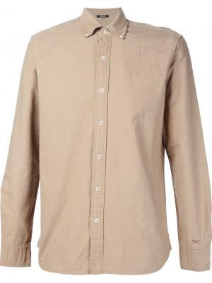 Рубашка с воротником на пуговицах Denham. Цвет: телесный