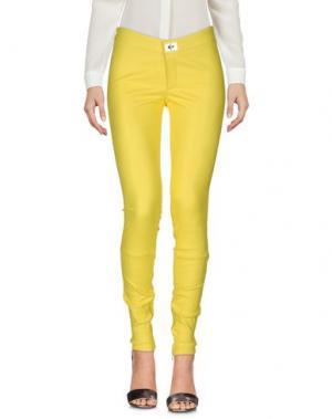 Повседневные брюки APHERO. Цвет: желтый