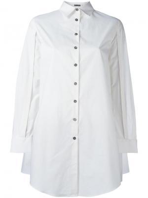 Рубашка с вырезами на рукавах Jourden. Цвет: белый