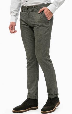 Зауженные серые брюки LERROS. Цвет: серый