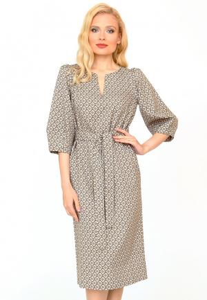 Платье MARI VERA. Цвет: серый