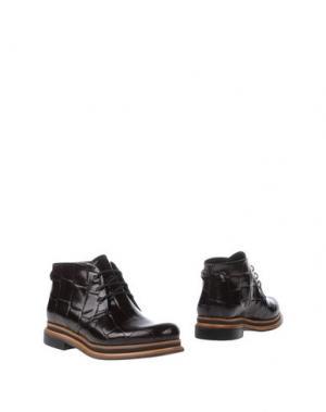 Полусапоги и высокие ботинки ZINDA. Цвет: какао