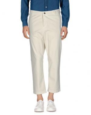 Повседневные брюки DERRIÉRE. Цвет: слоновая кость