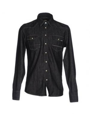 Джинсовая рубашка CARE LABEL. Цвет: черный