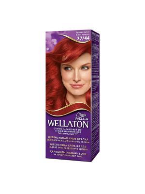 Крем-краска для волос стойкая 77/44 Красный вулкан WELLATON. Цвет: фиолетовый