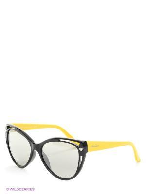 Очки солнцезащитные Versace. Цвет: черный, желтый