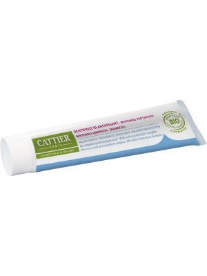 Cattier Зубная Паста Эриден Отбеливающая Для Свежего Дыхания, Туба 75 Мл. Цвет: бежевый, белый