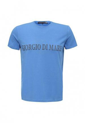 Футболка Giorgio Di Mare. Цвет: синий