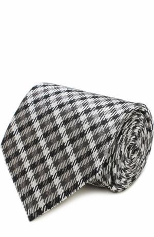 Шелковый галстук с узором Tom Ford. Цвет: серый