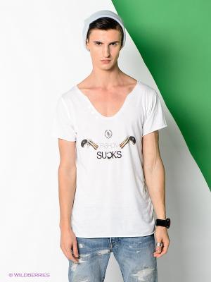 Футболка Boom Bap Wear. Цвет: белый, черный