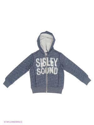 Куртка Sisley Young. Цвет: синий, серый