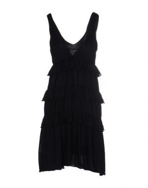 Короткое платье CRISTINAEFFE COLLECTION. Цвет: темно-синий