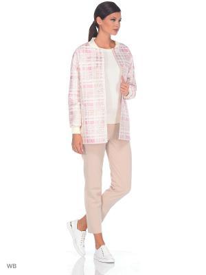 Куртка Exalta. Цвет: розовый, белый, золотистый