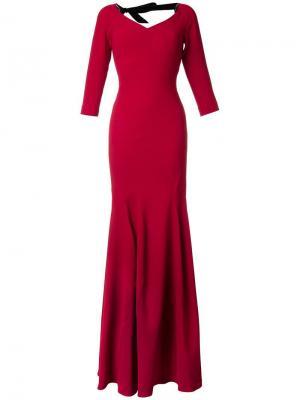 Вечернее платье Templeton Roland Mouret. Цвет: красный
