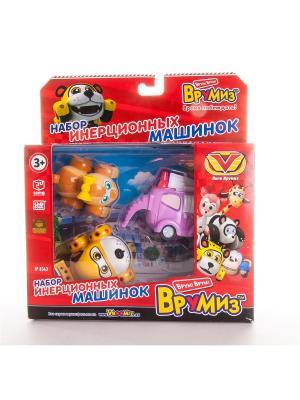 Игрушка Врумиз набор инерционных машинок Спиди, Софи, Слон пожарный. Цвет: красный