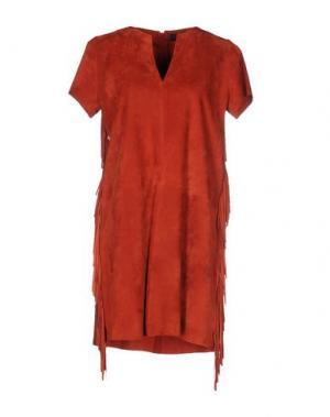 Короткое платье ENES. Цвет: кирпично-красный
