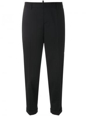 Укороченные строгие брюки Dsquared2. Цвет: чёрный