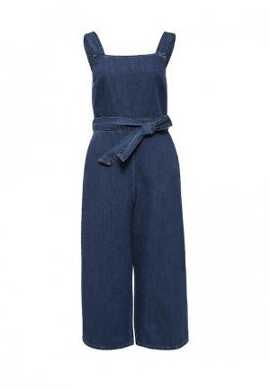 Комбинезон джинсовый Dorothy Perkins. Цвет: синий