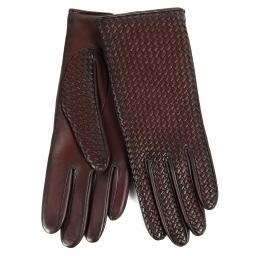 Перчатки  CHLOE/BRAIDPAT/W бордово-коричневый AGNELLE