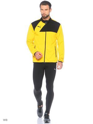 Толстовка Esquadra Poly Jacket Puma. Цвет: черный, желтый