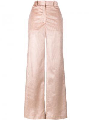 Широкие вельветовые брюки Adam Lippes. Цвет: розовый и фиолетовый