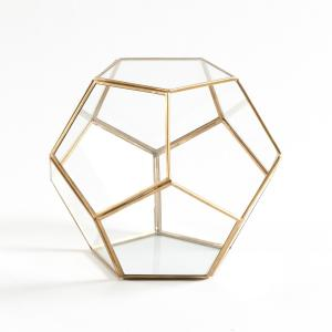Террариум из стекла и металла, Uyova La Redoute Interieurs. Цвет: латунь