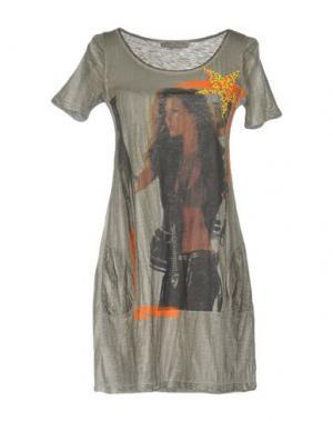 Короткое платье ATHLETIC VINTAGE. Цвет: серый