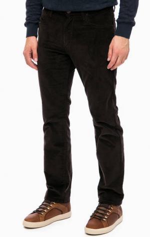 Коричневые вельветовые брюки Wrangler. Цвет: коричневый