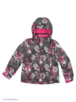 Куртка Icepeak. Цвет: черный, розовый