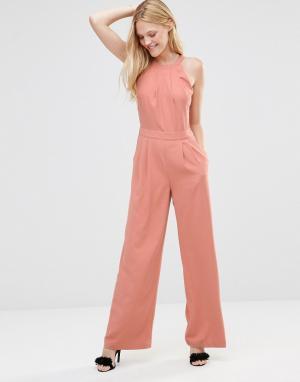 Greylin Комбинезон с широкими штанинами Dina. Цвет: розовый