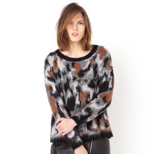Пуловер с животными мотивами SUNCOO. Цвет: темно-бежевый