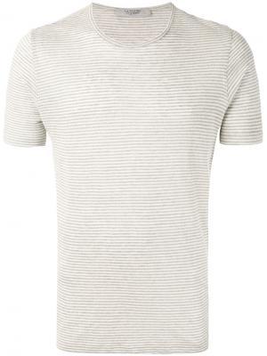 Классическая футболка La Fileria For Daniello D'aniello. Цвет: телесный