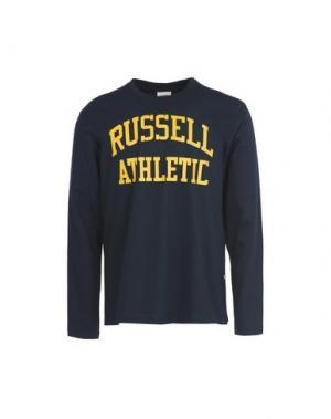 Футболка RUSSELL ATHLETIC. Цвет: темно-синий