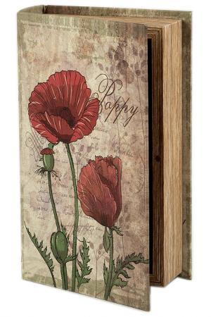 Шкатулка-фолиант 21х13х6см Русские подарки. Цвет: белый, красный, зеленый