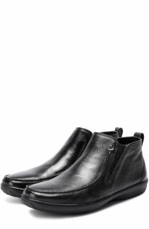 Кожаные ботинки без шнуровки Aldo Brue. Цвет: черный