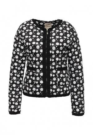 Куртка утепленная Softy. Цвет: черно-белый