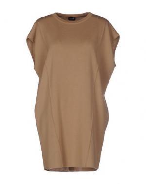 Короткое платье NEERA. Цвет: верблюжий