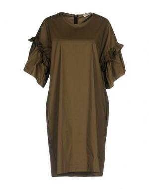 Короткое платье LA FABRIQUE. Цвет: зеленый-милитари