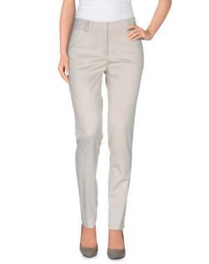 Повседневные брюки MESSAGERIE. Цвет: светло-серый