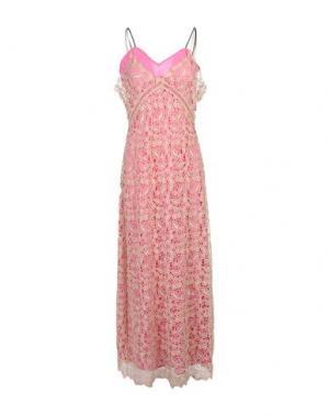 Длинное платье SELF-PORTRAIT. Цвет: бежевый